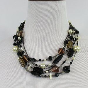 Lia Sophia Short Multi-Strand Beaded Necklace